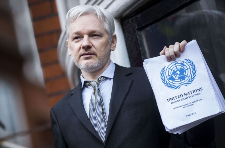 Julian Assange (par Rupert Hartley, AP, Shutterstock)